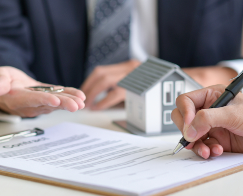 signing contract for mortgage loan