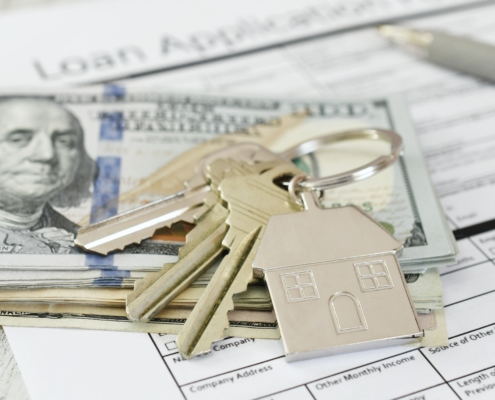 House Keys on a Cash Loan for First Time Buyers